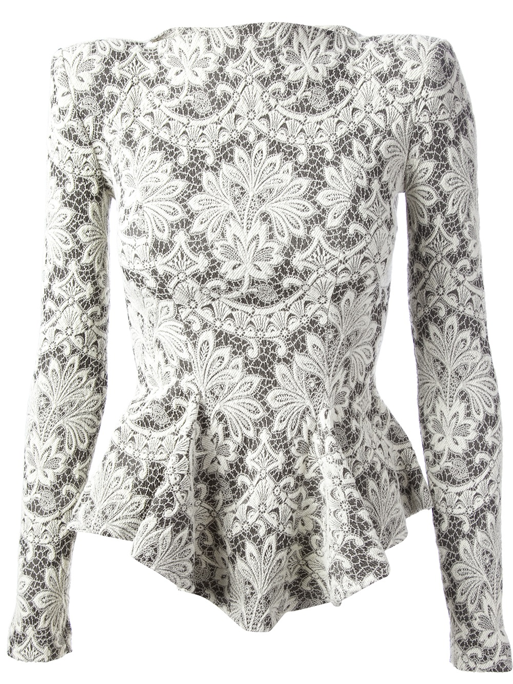 Plein Sud Jeanius Embroidered Lace Top In White  Lyst
