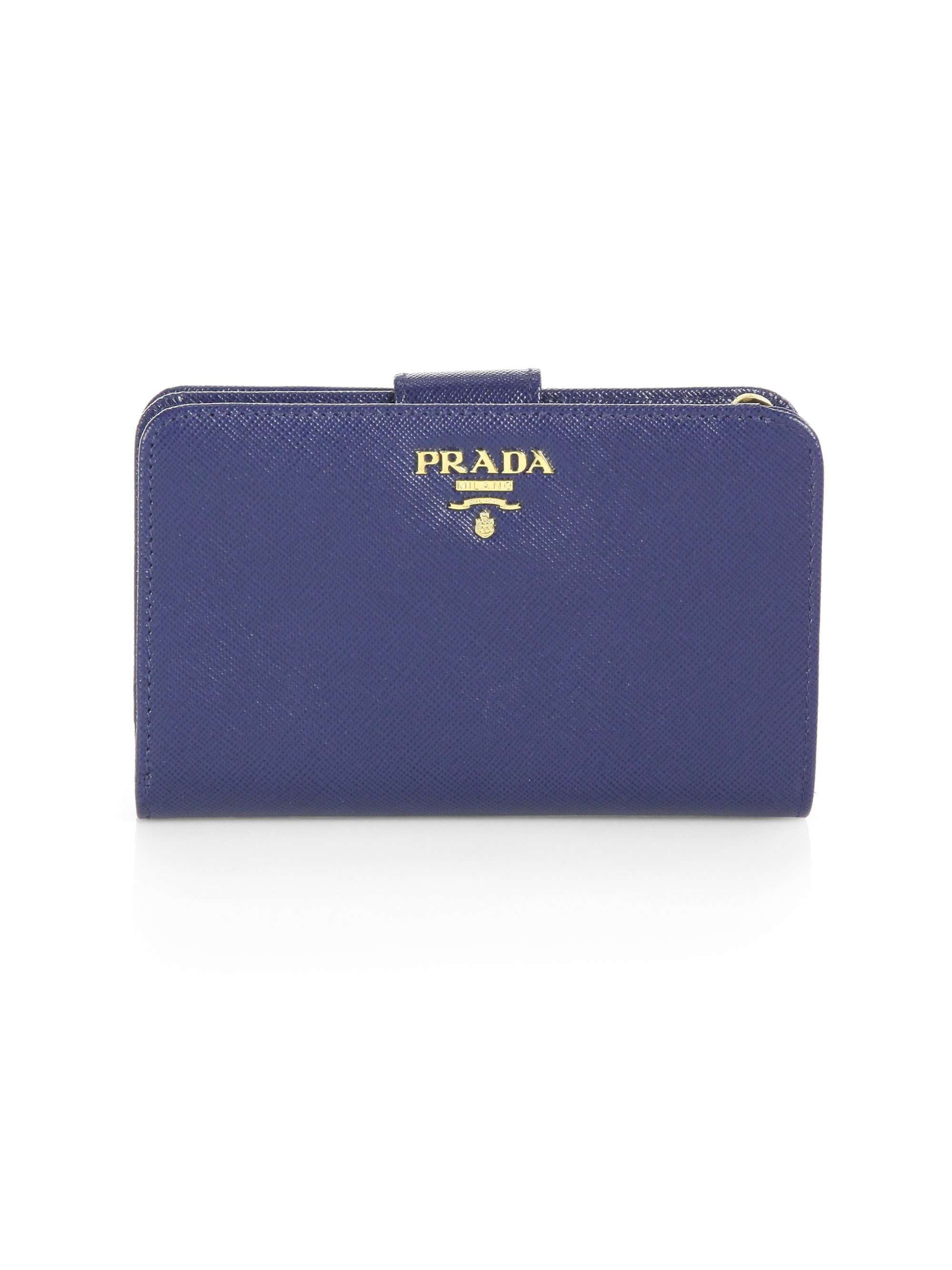 c90c376ad91a Prada Saffiano Leather Wallet Blue | Stanford Center for Opportunity ...