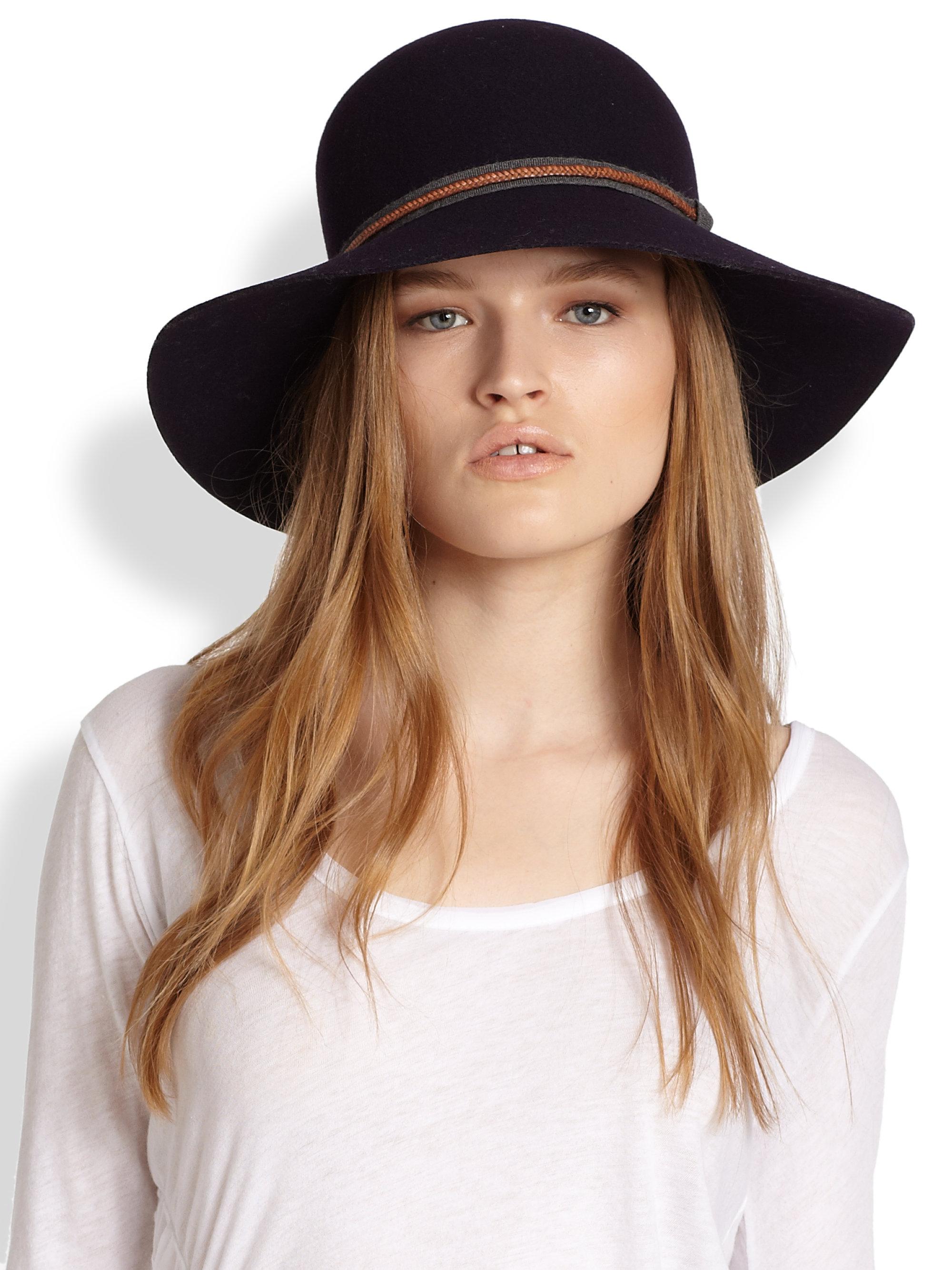 783ca11c9ca Lyst - Rag   Bone Dunaway Wool Felt Hat in Black
