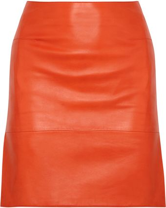 Richard Nicoll Leather Skirt - Lyst