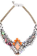 Shourouk Shourouk Embellished Necklace - Lyst