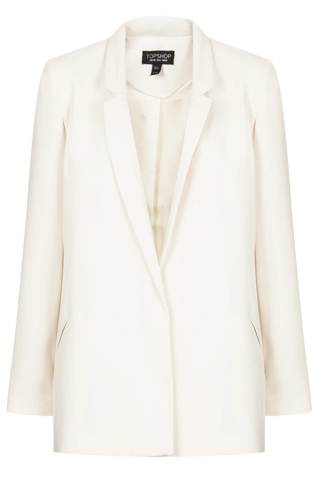 Lyst - Topshop Tailored Long Line Blazer in White