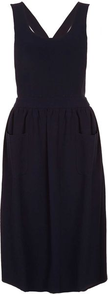 Topshop Cross Back Pinny - Lyst