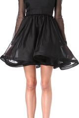 Valentino  Sheer Silk Organza Prom Dress - Lyst