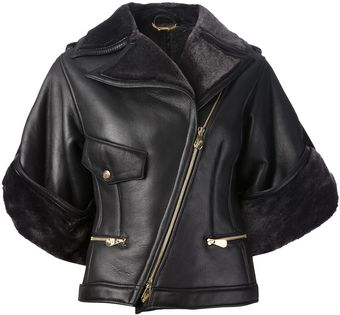 Versace Versace Collection Leather Jacket - Lyst