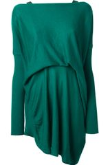 Vionnet Vionnet Pleated Mini Dress - Lyst