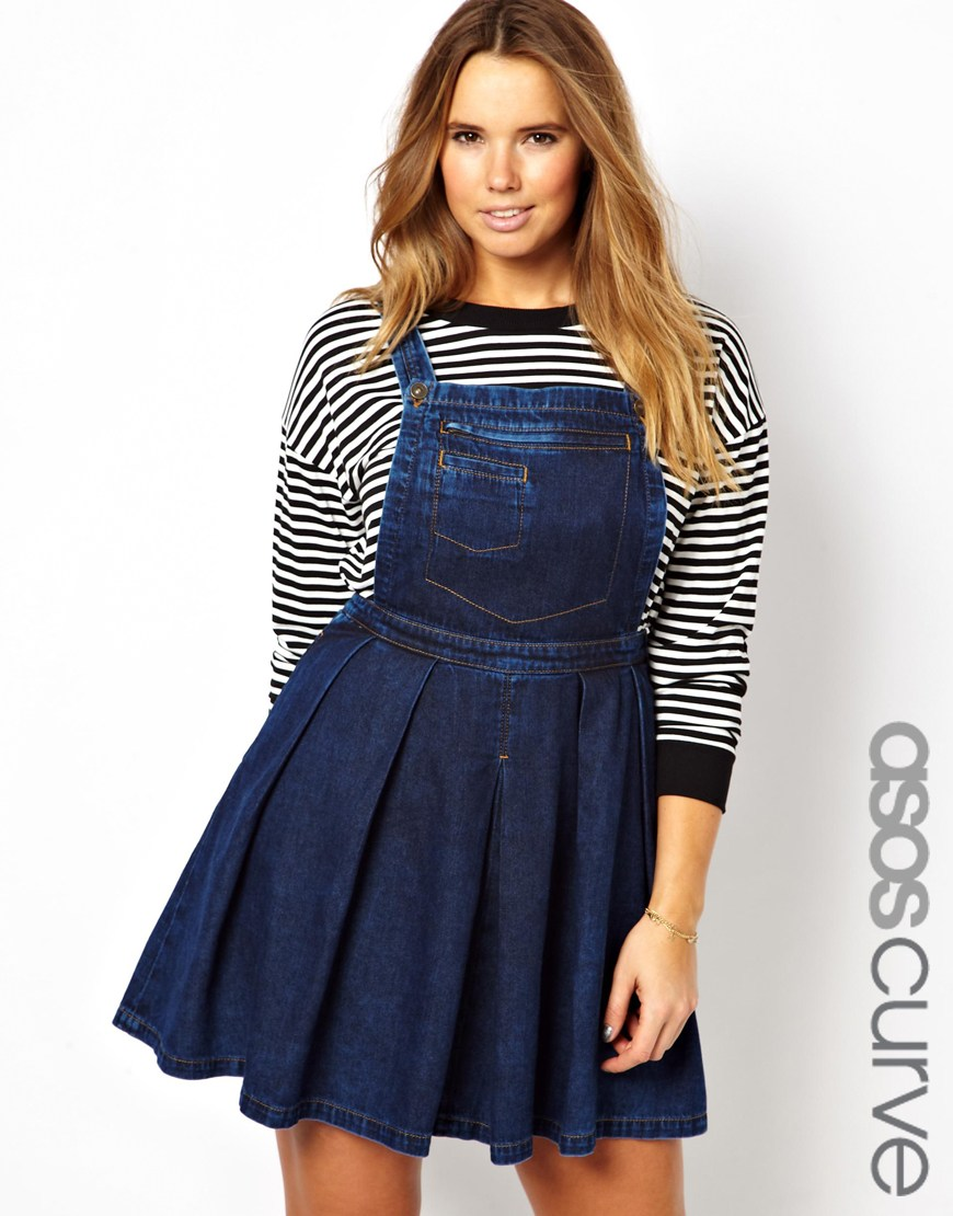 dae0b9db619 Black Denim Dungaree Dress Plus Size