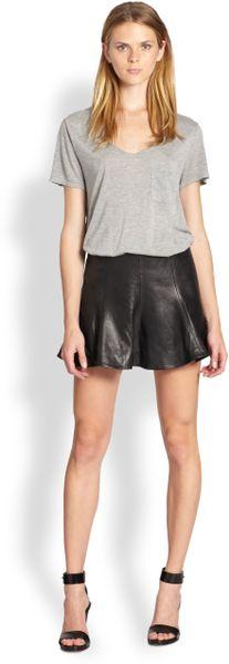 bec bridge haku flared leather skirt in black lyst
