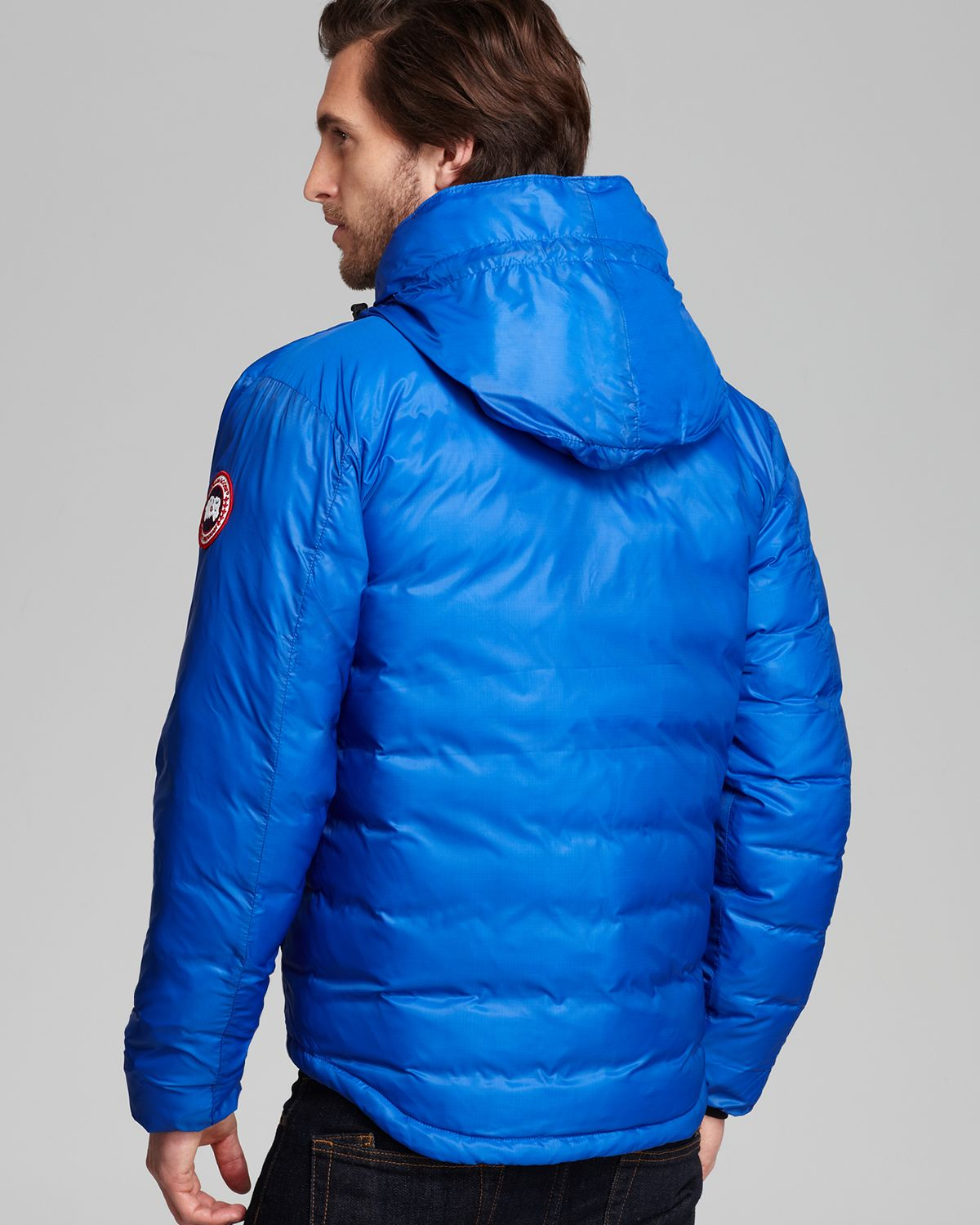 Canada Goose Lodge Hoodie Down Jacket In Blue For Men Lyst
