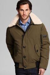Canada Goose Foxe Bomber Jacket with Shearling Collar - Lyst