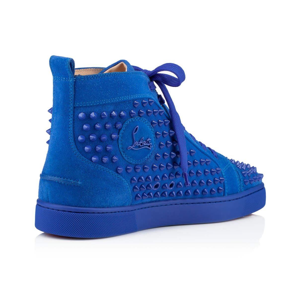 28467c191b84 Lyst - Christian Louboutin Men s Louis Flat Sneakers in Blue for Men