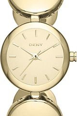 DKNY Roundabout Goldplated Watch - Lyst
