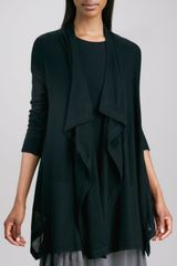Donna Karan New York Lightweight Draped Open Cardigan Black - Lyst