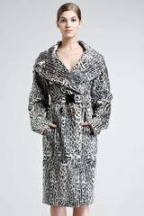Donna Karan New York Ocelotprint Goatskin Trench Coat - Lyst