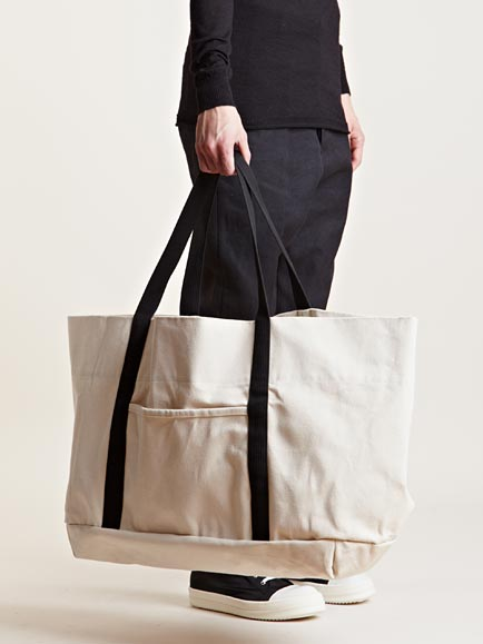 Drkshdw by rick owens Mens Oversized Canvas Bag in White for Men ...