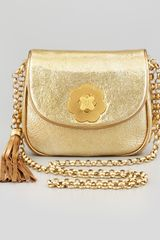 Eric Javits Baby Metallic Shoulder Bag Gold - Lyst
