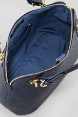 Eric Javits Zimba Woven Zip Shoulder Bag Navy in Blue (NAVY) - Lyst