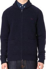 Fred Perry Zipthrough Cardigan - Lyst
