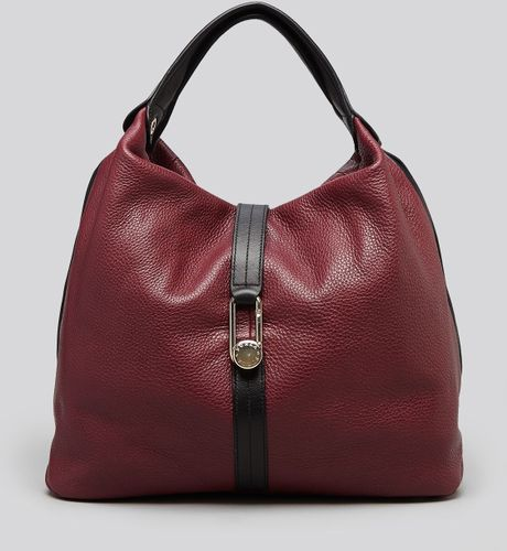 Furla Hobo Elisabeth Buckle in Purple (Burgundy/Taupe) - Lyst