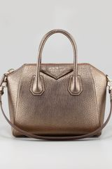 Givenchy Antigona Small Metallic Leather Satchel Bag Gold - Lyst