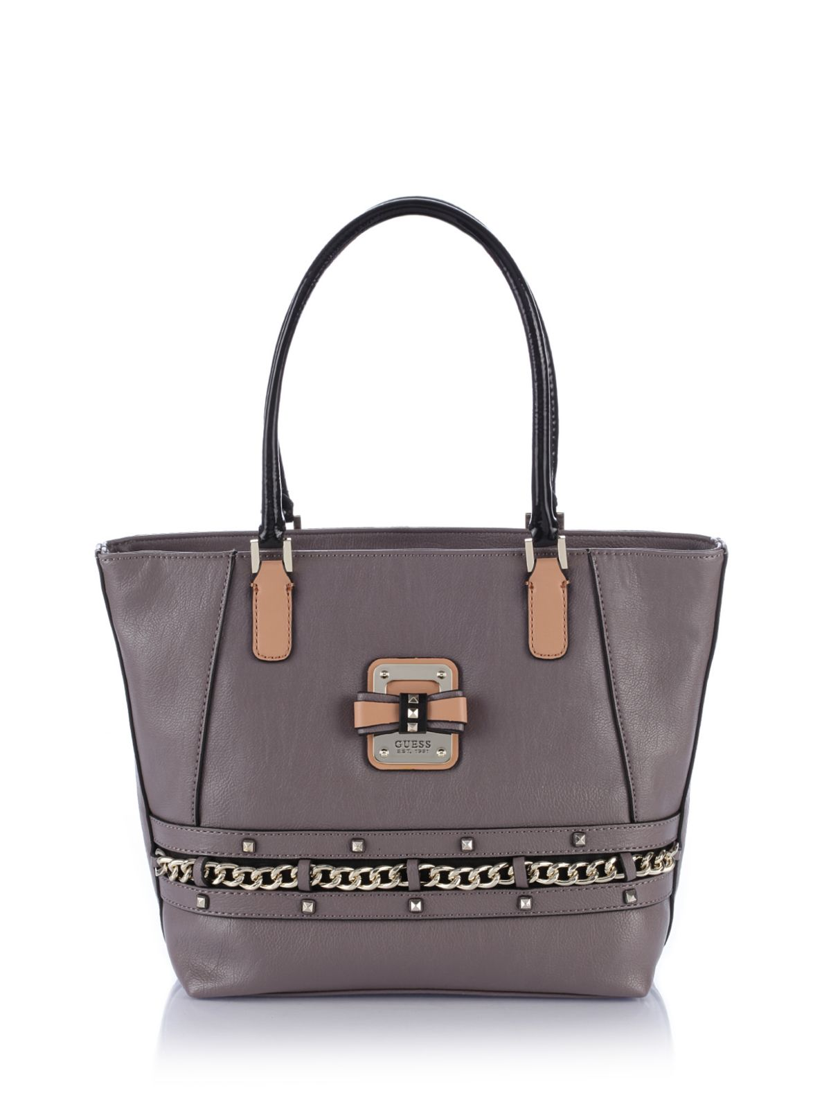 Guess Ellese Small Classic Tote Bag in Gray (Taupe)  55105d9207c8c