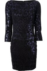 Just Cavalli Sequined Paisley Dress - Lyst