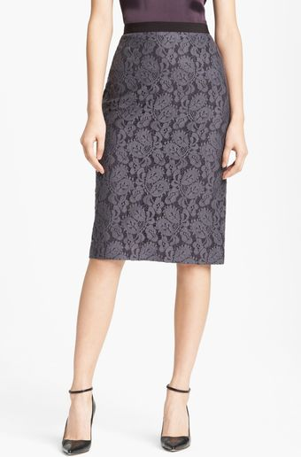Lida Baday Slim Lace Skirt - Lyst
