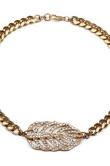 Lulu Frost Goldtone Drift Necklace - Lyst
