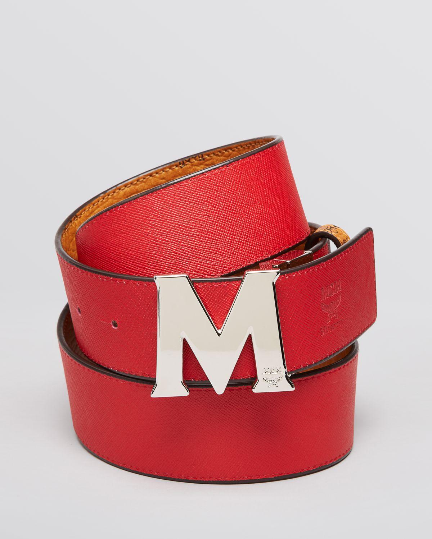 Lyst Mcm Reversible M Belt In Red For Men
