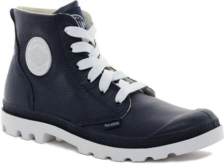 Cool  Womens Ankle Boots Baggy Low Palladium Womens Retro Canvas Boots Blue