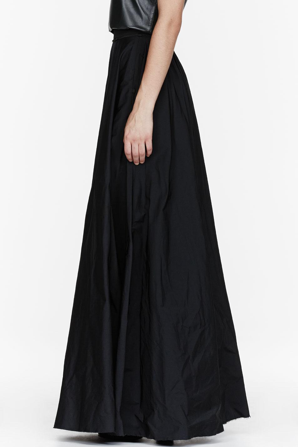 Yang Li Black Floor Length Circle Skirt In Black | Lyst