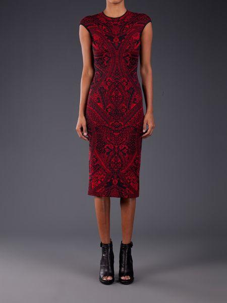 Alexander Mcqueen Alexander Mcqueen Lace Print Dress In