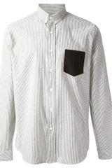 Ami Fine Striped Oxford Shirt - Lyst