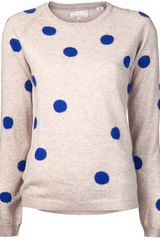 Chinti And Parker Chinti and Parker Cashmere Polka Dot Sweater - Lyst