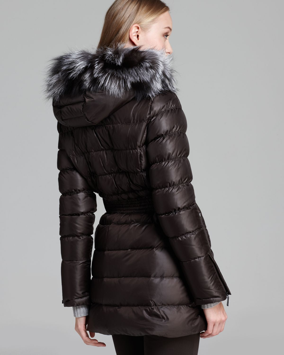 Dawn levy Down Coat Harlow Belted in Black | Lyst