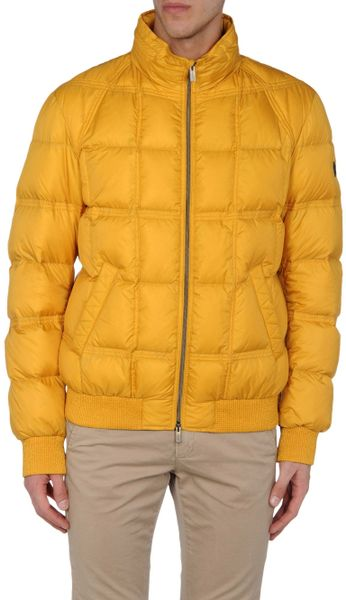 Fendi Down Jacket In Yellow For Men Ocher Lyst