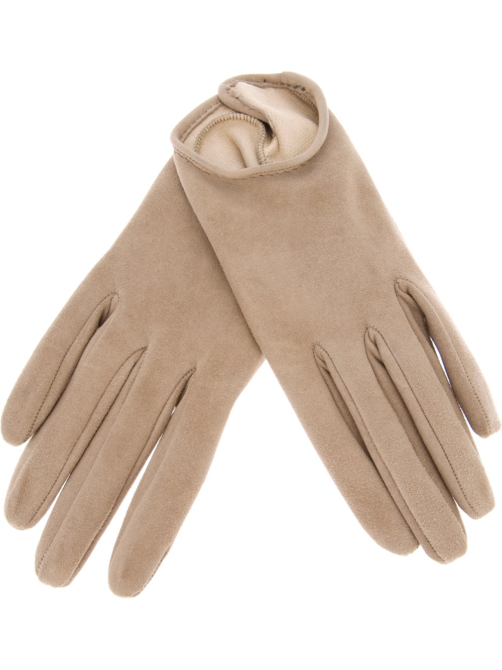 Womens beige leather gloves -  Womens Beige Leather Gloves Giorgio Armani Giorgio Armani Leather Gloves In Natural Lyst