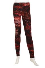 Helmut Lang Printed Legging Pants Red - Lyst