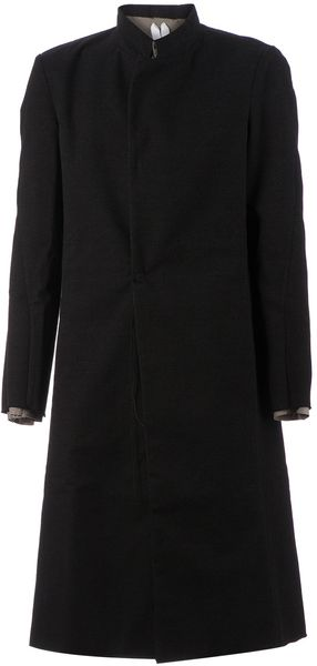 Individual Sentiments Raw Hem Coat - Lyst
