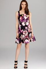 Karen Millen Winter Floralprint Dress - Lyst