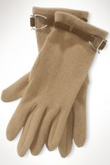 Lauren by Ralph Lauren Wool Cashmere Gloves - Lyst