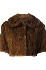 Marc Jacobs Mink Fur Cropped Jacket - Lyst