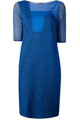 Missoni Sheer Panel Dress - Lyst