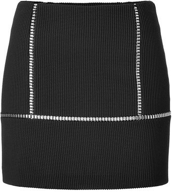 Paco Rabanne Embellished Stretch Miniskirt in Black - Lyst