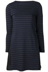 Sacai Sacai Striped Boatneck Dress - Lyst