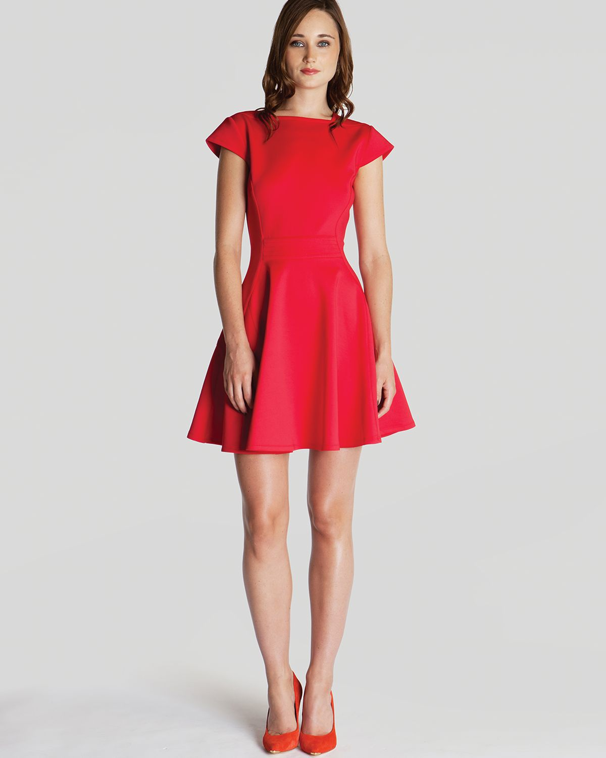 Ted Baker Dress Tezz Skater In Red Lyst