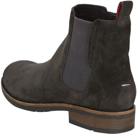 tommy hilfiger darren 1b chelsea boot in gray for men slate grey. Black Bedroom Furniture Sets. Home Design Ideas