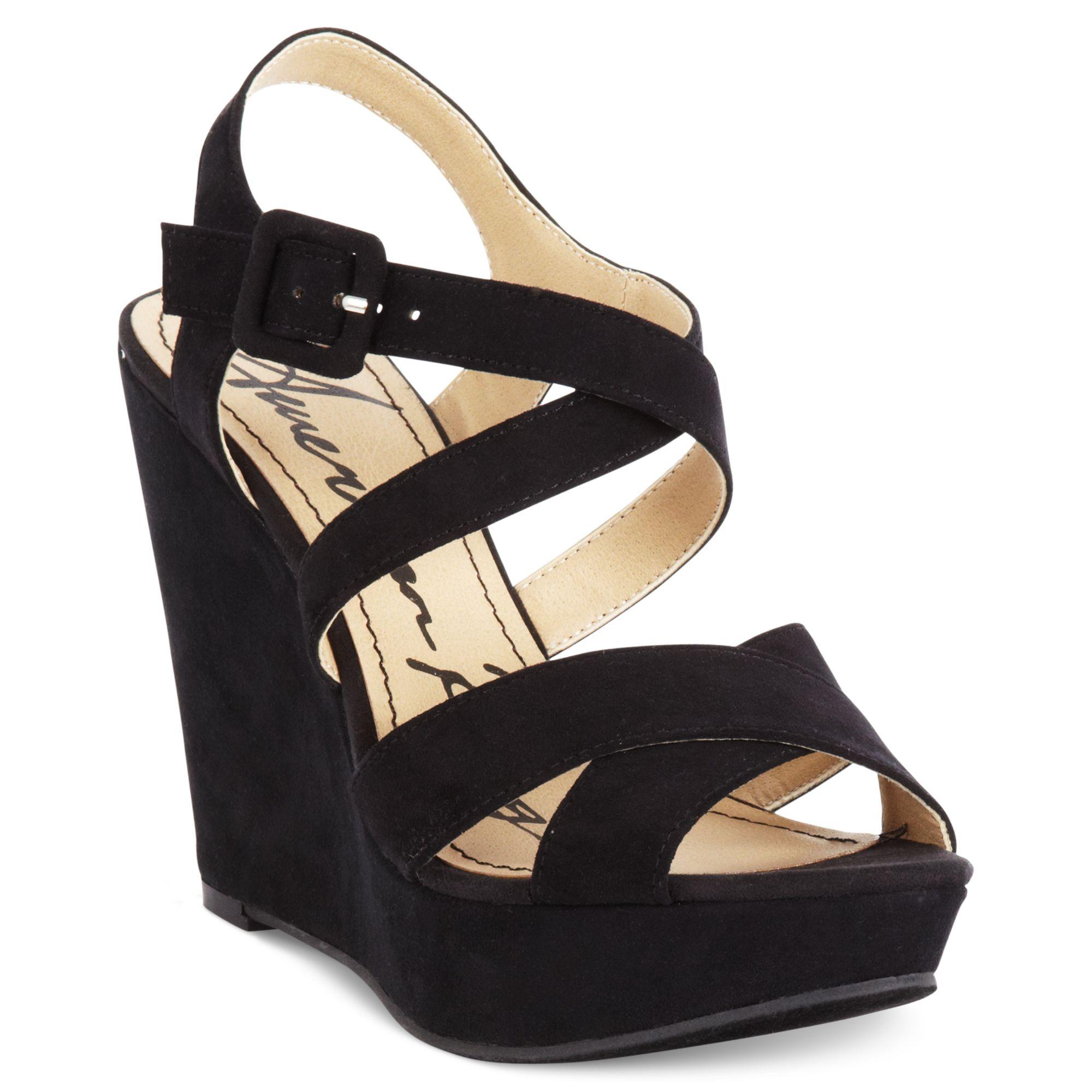 american rag rachey platform wedge sandals in black lyst