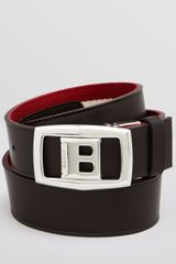 Bally Baldek Buckle Reversible Fabric Belt - Lyst