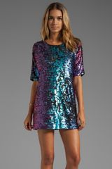 Blaque Label Sequins Shift Dress in Purple - Lyst